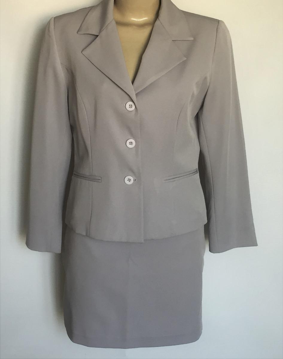 89c8bf7add terninho feminino saia e blazer moda mania cinza tam.40 42. Carregando zoom.