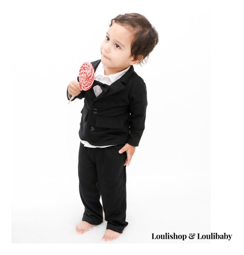 terno bebê social com gravata festas batizado casamento