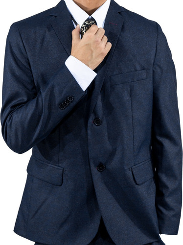 terno certo boss2019 - azul marinho fosco - slim