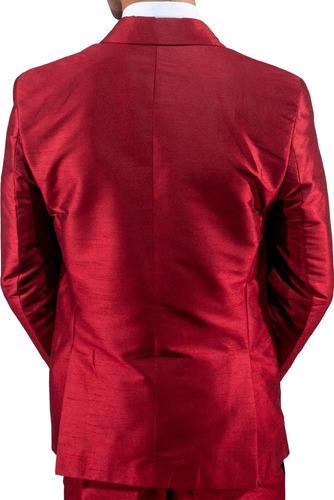 terno certo - metálico vermelho - slim