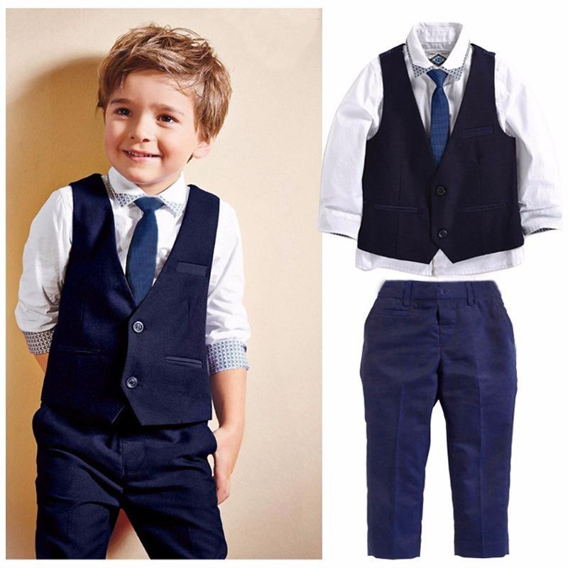 c6d26c2003 terno conjunto social masculino infantil pajem camisa colete. Carregando  zoom.