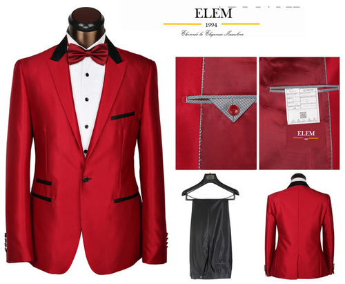 terno ejecutivo rojo fit slim