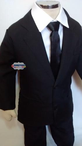terno infantil conjunto completo camisa calça gravata paletó