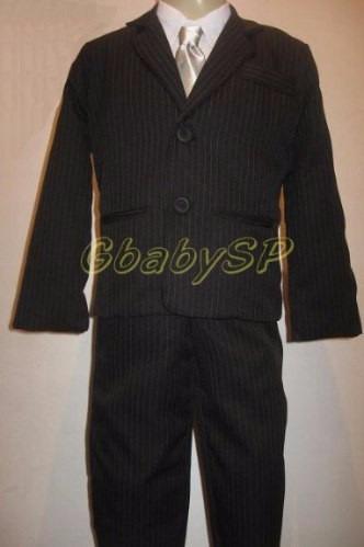 terno infantil masculino risca giz roupa social criança