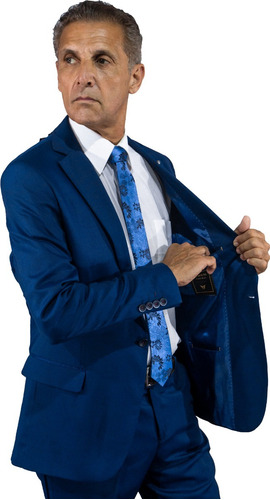 terno owen - azul royal - slim