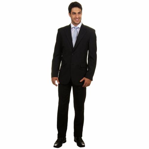 terno oxford slim 2 botoes italiano + capa + gravata  brinde