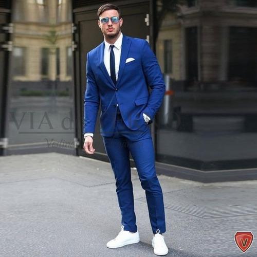 terno slim masculino blazer+ calça+ colete 6 cores escolha