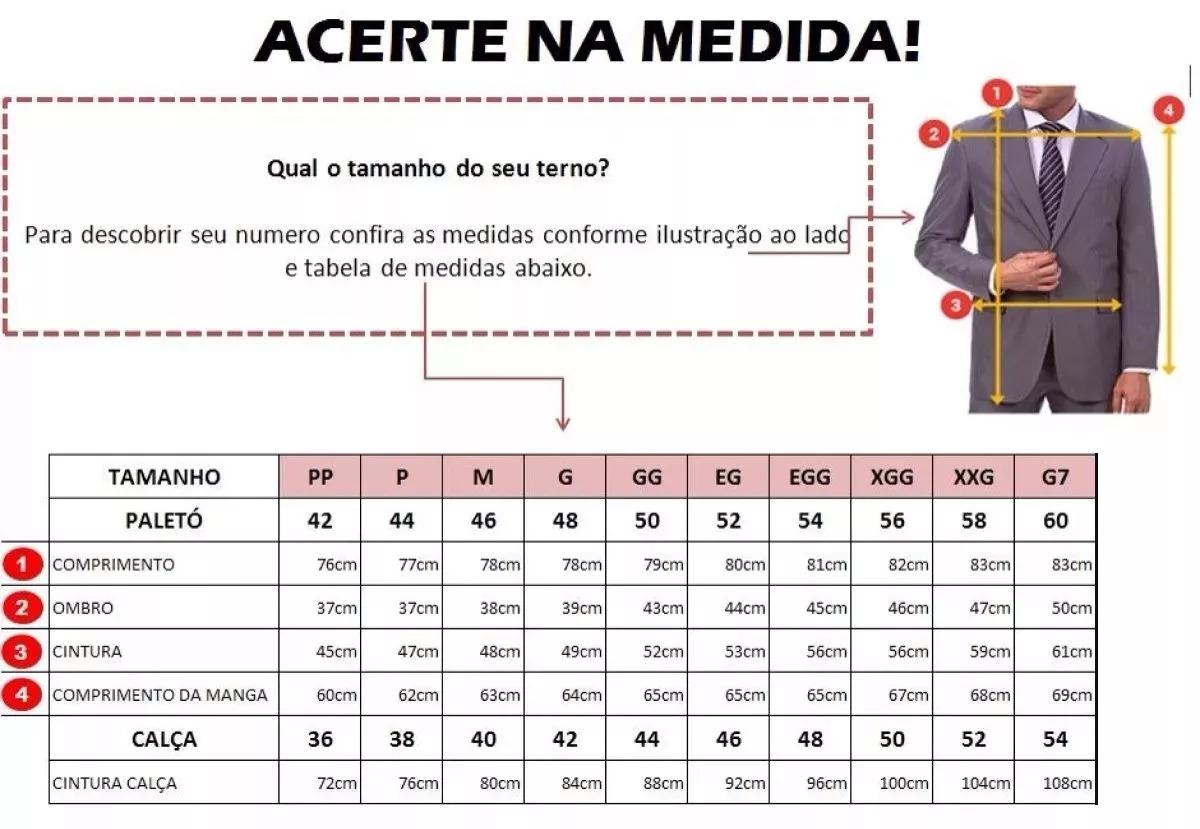 357525ac82 Terno Slim Masculino Microfibra Dois Botoes Gravata + Brinde - R ...
