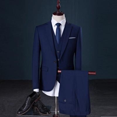 Terno Slim Masculino Oxford 2 Botoes Cor Azul Escuro - R  229 7deffe3931b8b