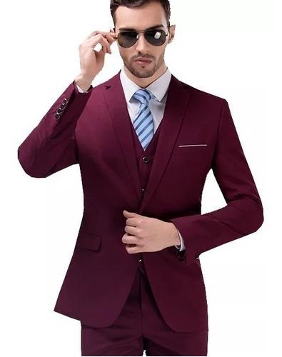 terno slim masculino vinho bordo marsala  mega oferta !!!