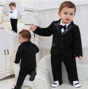 e44b5c37b5 Terno Bebê 6 A 12 M Macacão Infantil Smoking Social Batizado