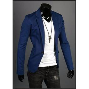 eb8cd8e101 Blazer Feminino Cea - Ternos Masculinas Azul no Mercado Livre Brasil