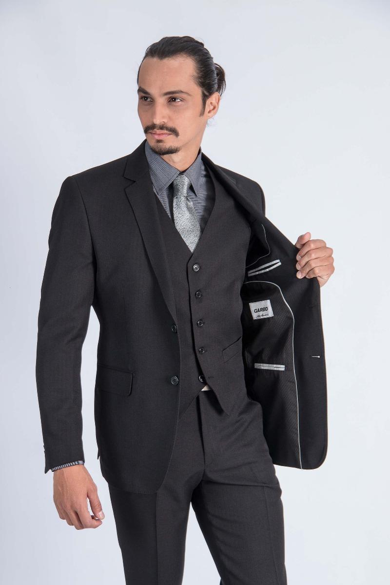 c3255f1721 Ternos Masculinos Slim Fit 2 Botões Corte Italiano - R  179