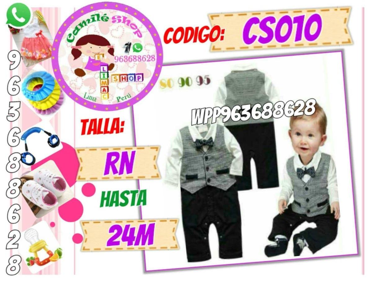 Ternos Smoking Para Bebé Enterizos Elegantes Cumpleaños - S  65 b559b6f183fc