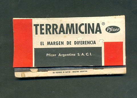 terramicina. carterita de fosforos .