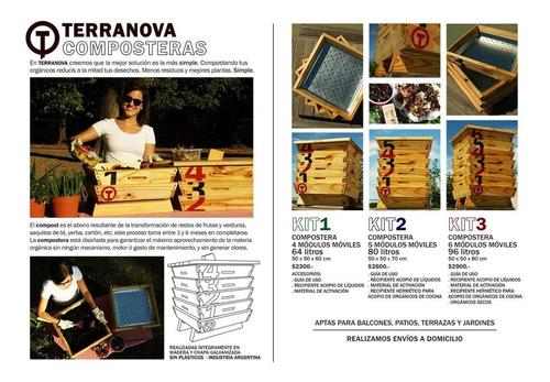 terranova compostera 4+ personas 96 litros - 6 modulos