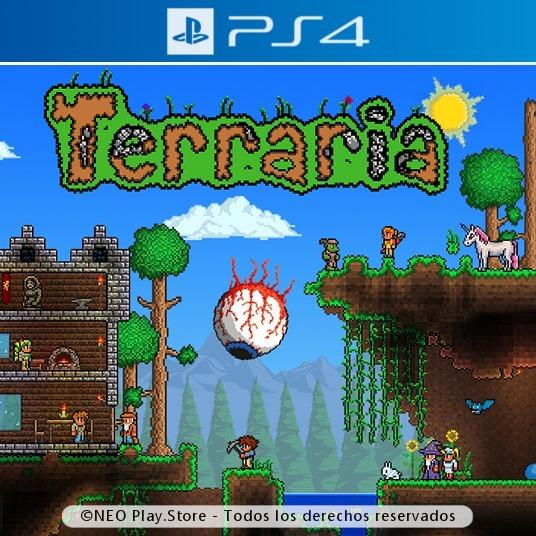 Terraria Juego Ps4 Aventura Multijugador Ninos Oferta Gtia 299