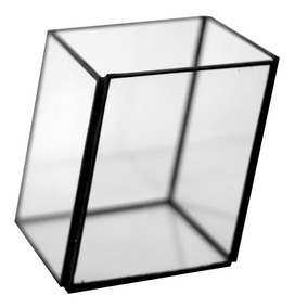 Cubo de vidrio 10x10 h 10 cm