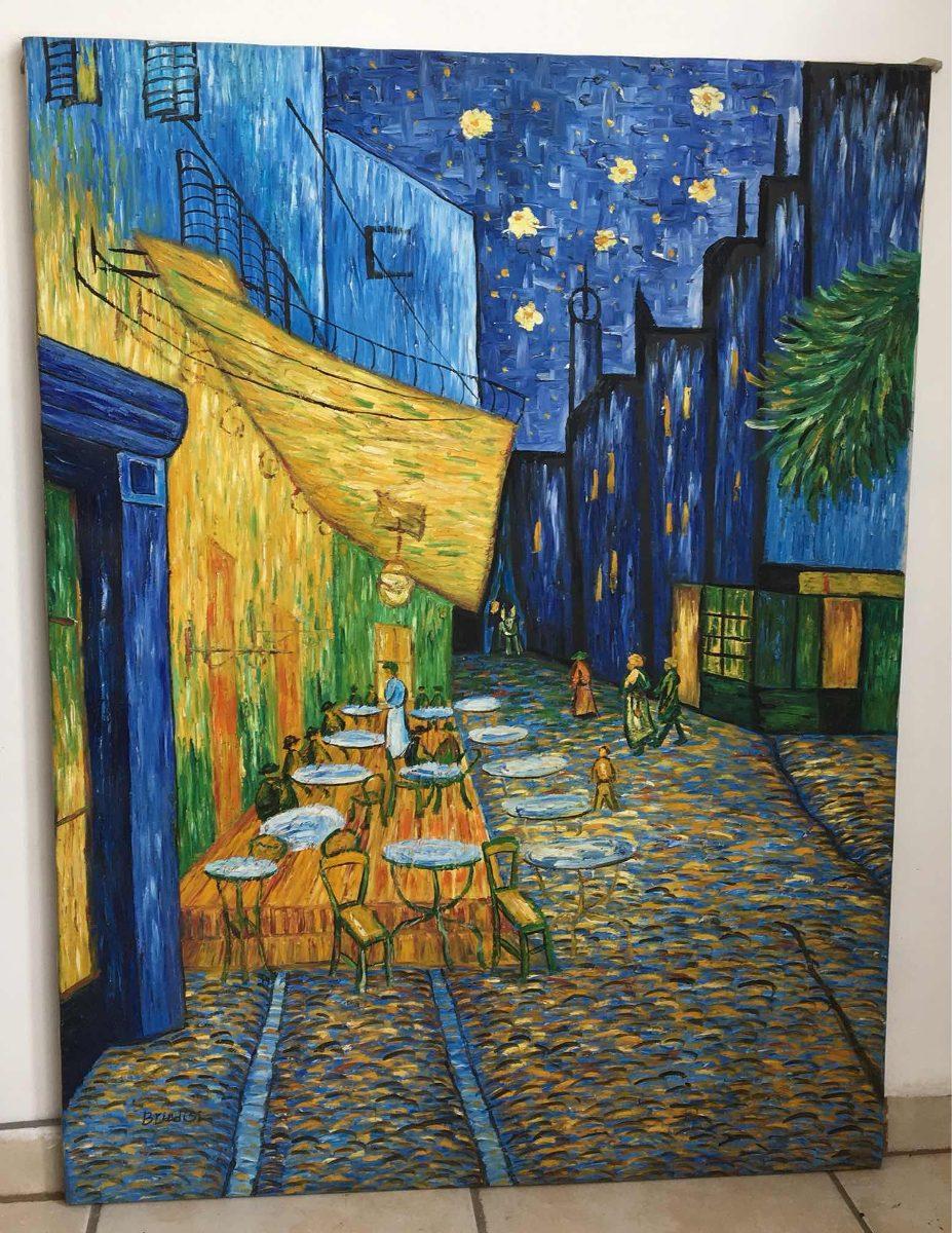 Terraza De Cafe Por La Noche óleo 2 500 00