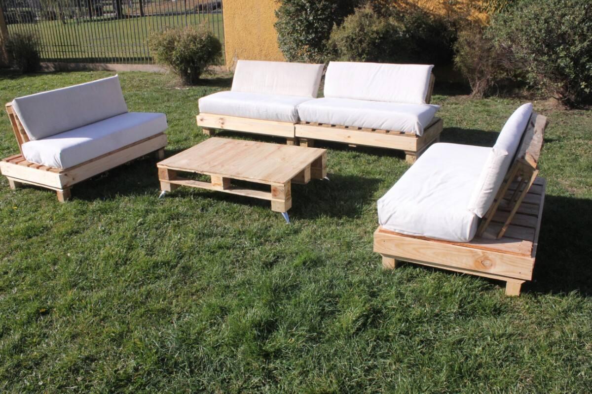 Terraza de palets en mercado libre for Muebles jardin madera palet