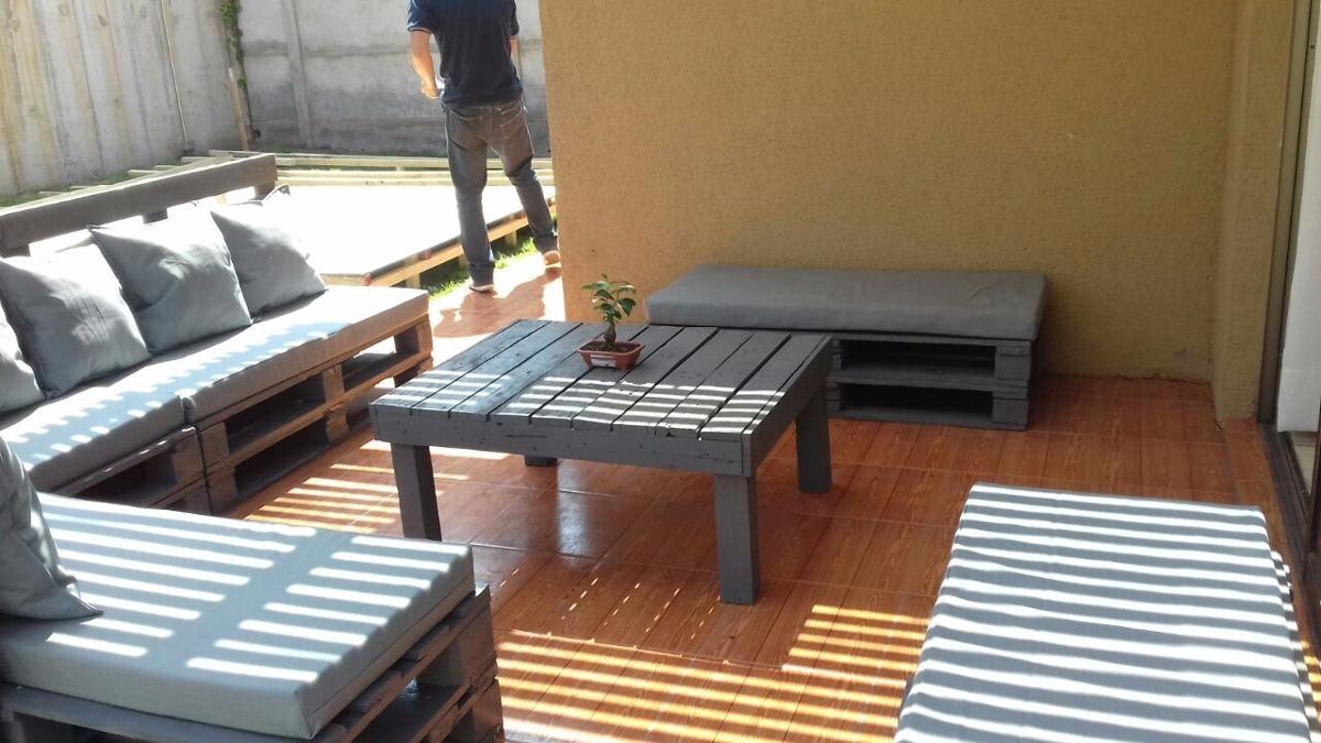 Terraza En Madera Rustica De Palet Mas Mesa De Centro