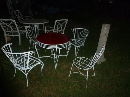 terraza fierro forjado 2 sillas 2 sitiales