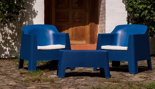 terraza ratán azul (2 personas)