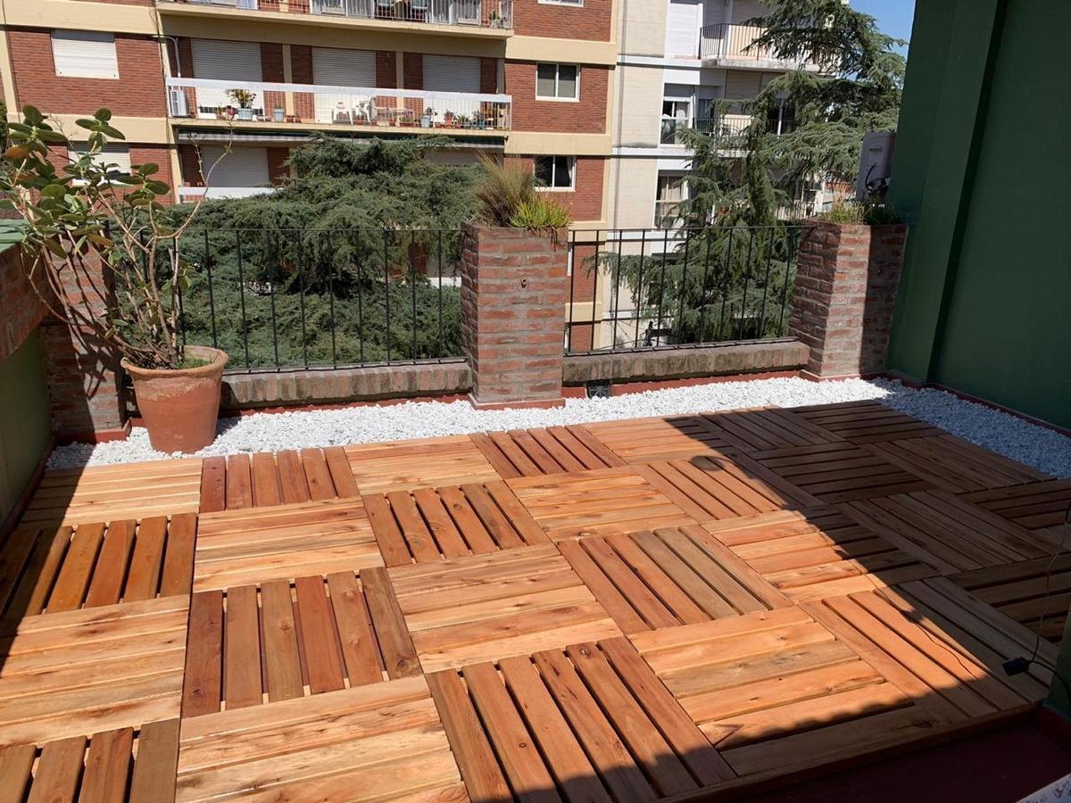 Terrazas Balcones Baldozas De Madera 60x60cm Pintadas Para E