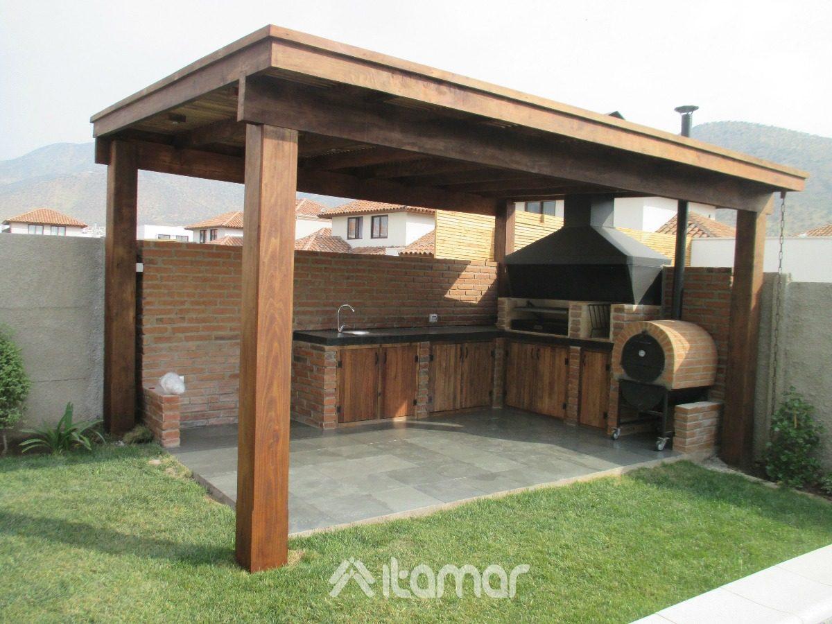 Terrazas de madera en mercado libre for Cobertizo de jardin moderno de techo plano