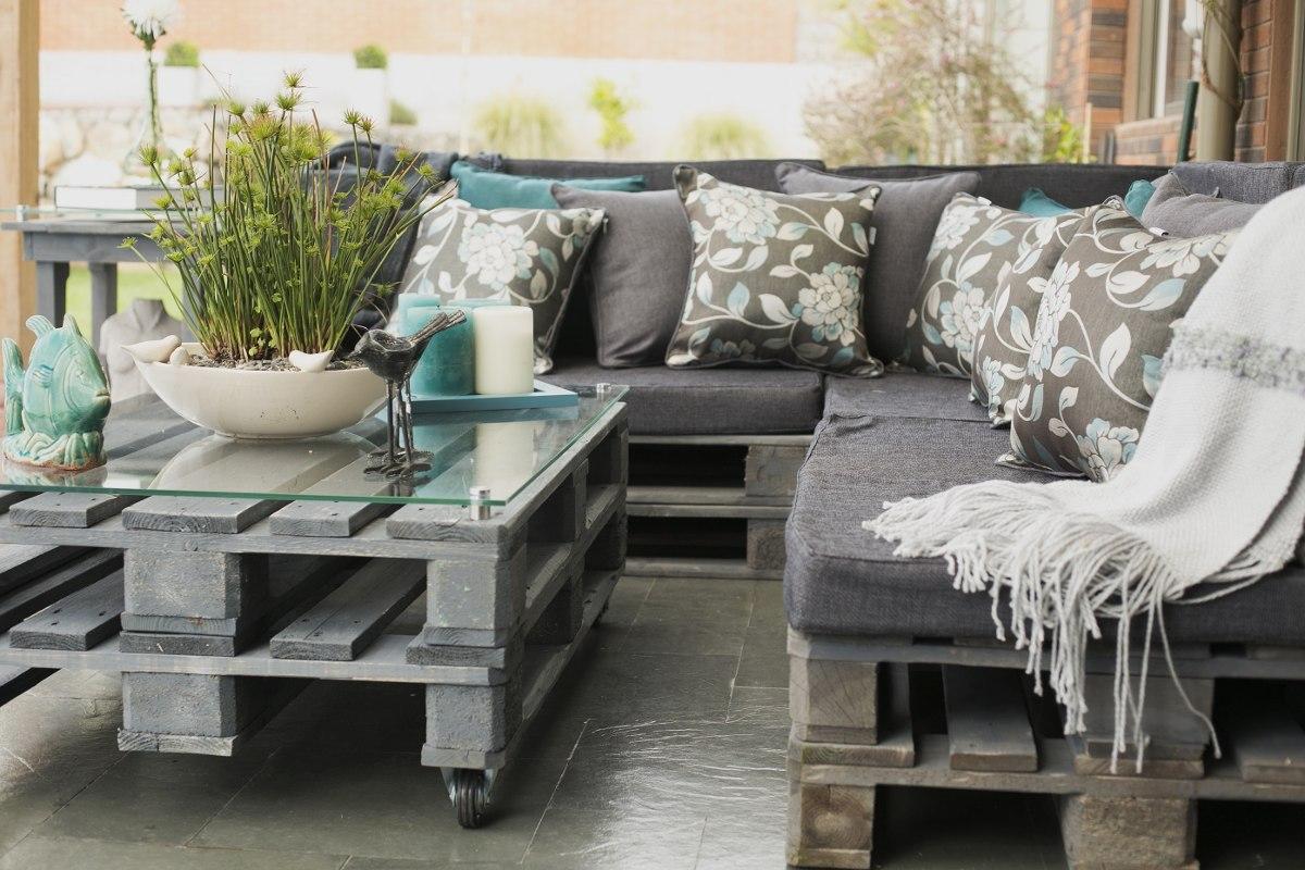 Terrazas de pallets en mercado libre for Muebles para terraza baratos