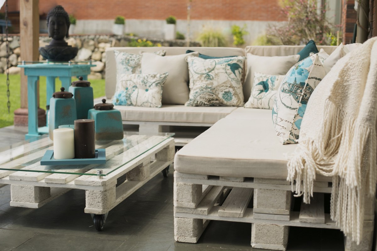Terrazas de pallets en mercado libre for Muebles de palet de europa