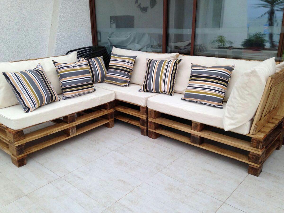 Terrazas y muebles pallet full en mercado libre for Muebles de jardin de palet