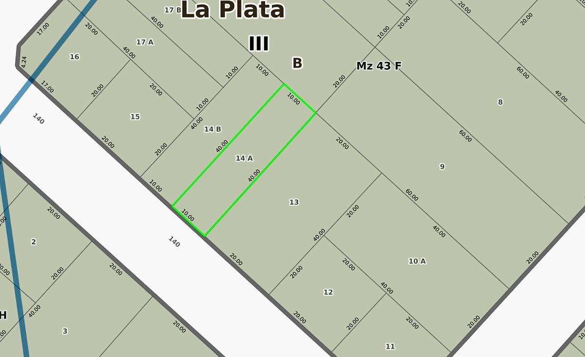 terreno 10 x 40 mts -todos los servicios-ideal emprendimiento viviendas - los hornos