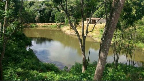 terreno 1.000 m2 com area de lazer, pesqueiro, sem taxa