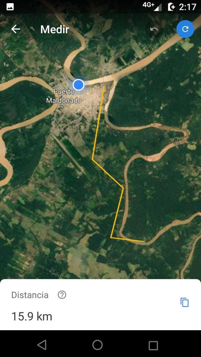 terreno 11 ha corredor turistico tambopata