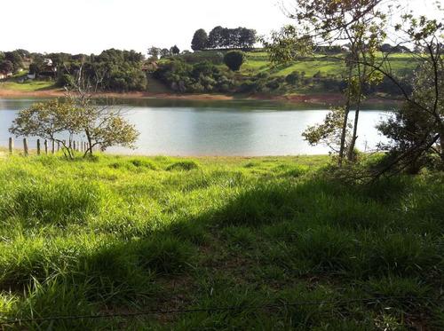 terreno 12.500 m² na represa  pé na água  - ref. tr-080
