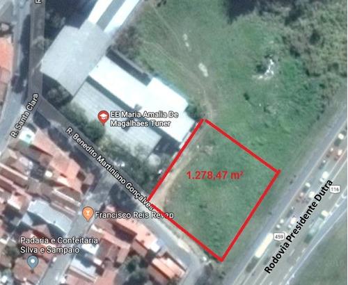 terreno 1278 m2 guaratinguetá - sp - preço ocasião