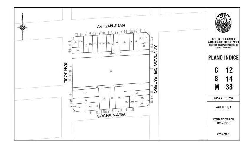terreno  12.83m x 33.15m sup 432m² - constitución