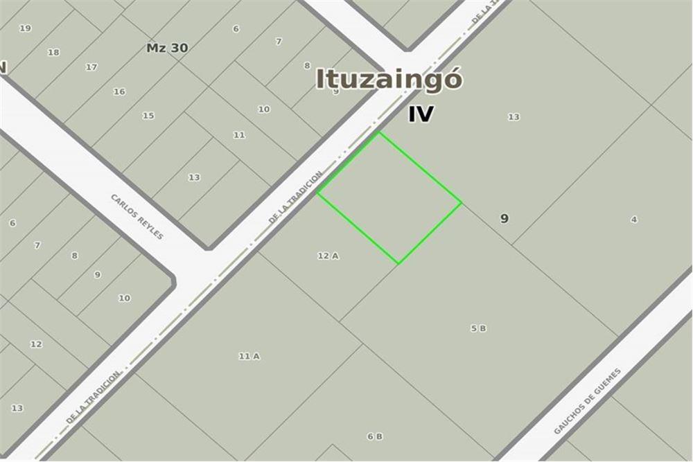 terreno 1505 m2- parque leloir  ituzaingó  permuta