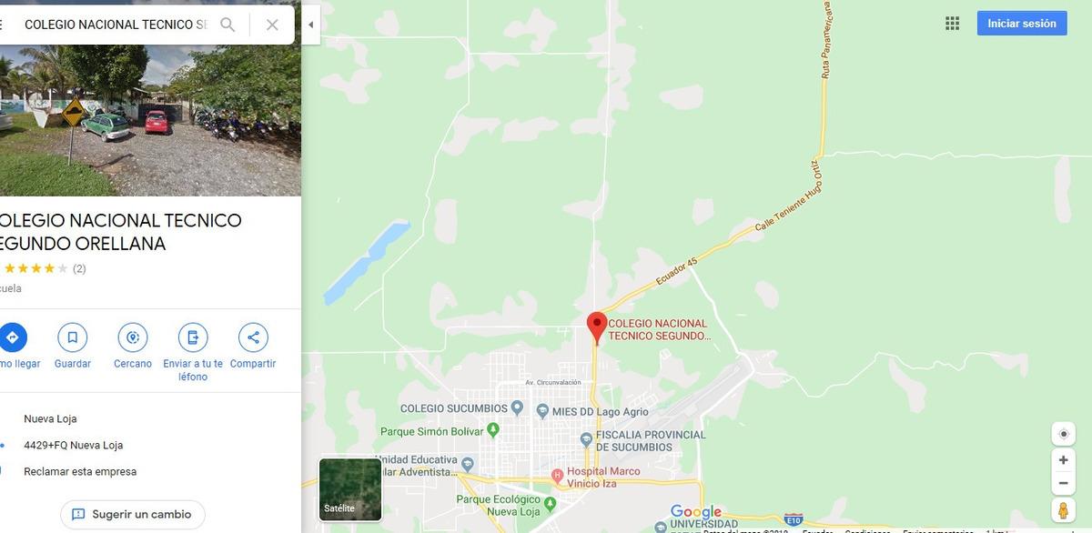 terreno 18.000 m2 en lago agrio acepto propuestas