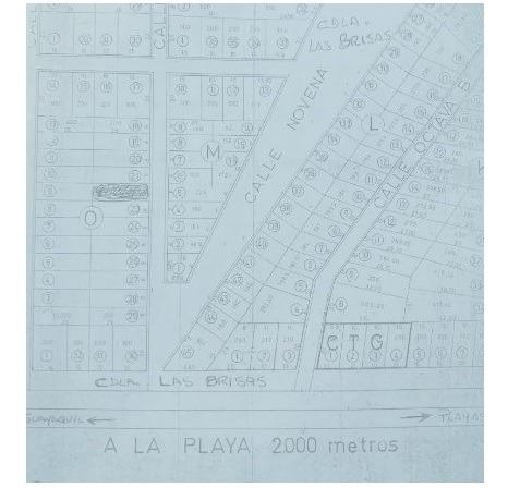 terreno 200 m2 playas de villamil vía principal junto a ctg