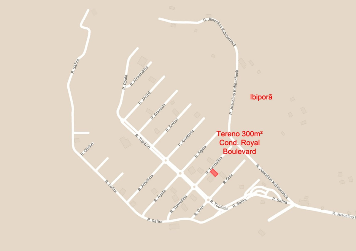 terreno 300m², royal boulevard qd 15, lt 16 - ibiporã/pr