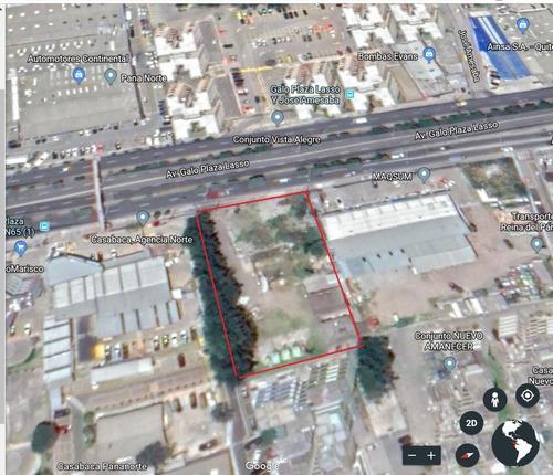 terreno 3100 m2, quito en av. galo plaza lasso