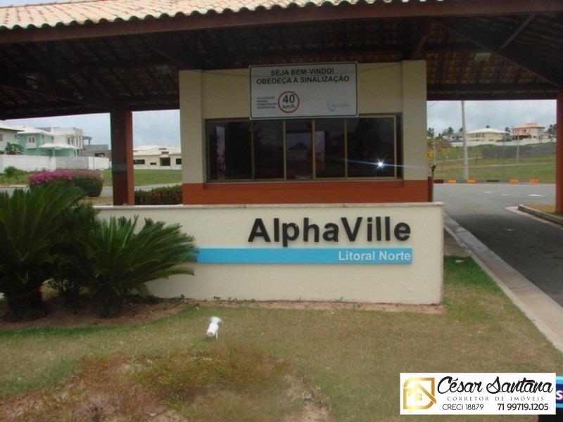 terreno 363m2  aclive -  vila de abrantes - alphaville litoral norte 2 - te00015 - 33359254