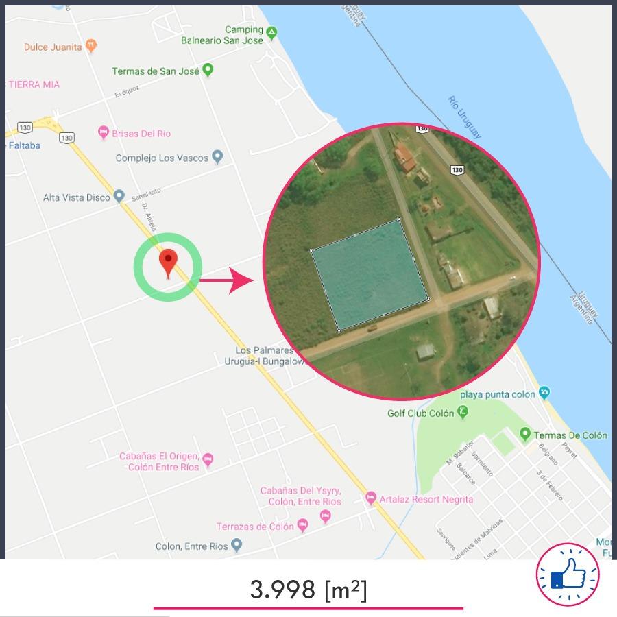 terreno 3.998[m²] - ubicado entre san josé y colón - vt-002