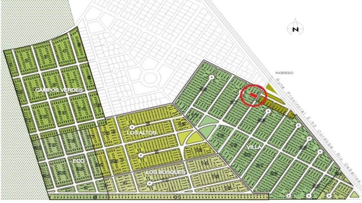 terreno 476 m2 - villa catalina 1ra etapa - rio ceballos