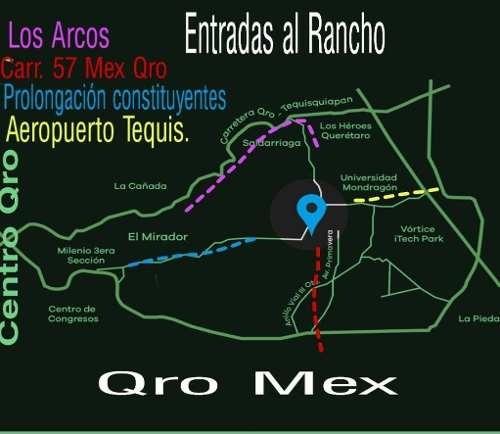 terreno  52,000 mts. rancho viejo, a pie de carretera libre mex-qro.