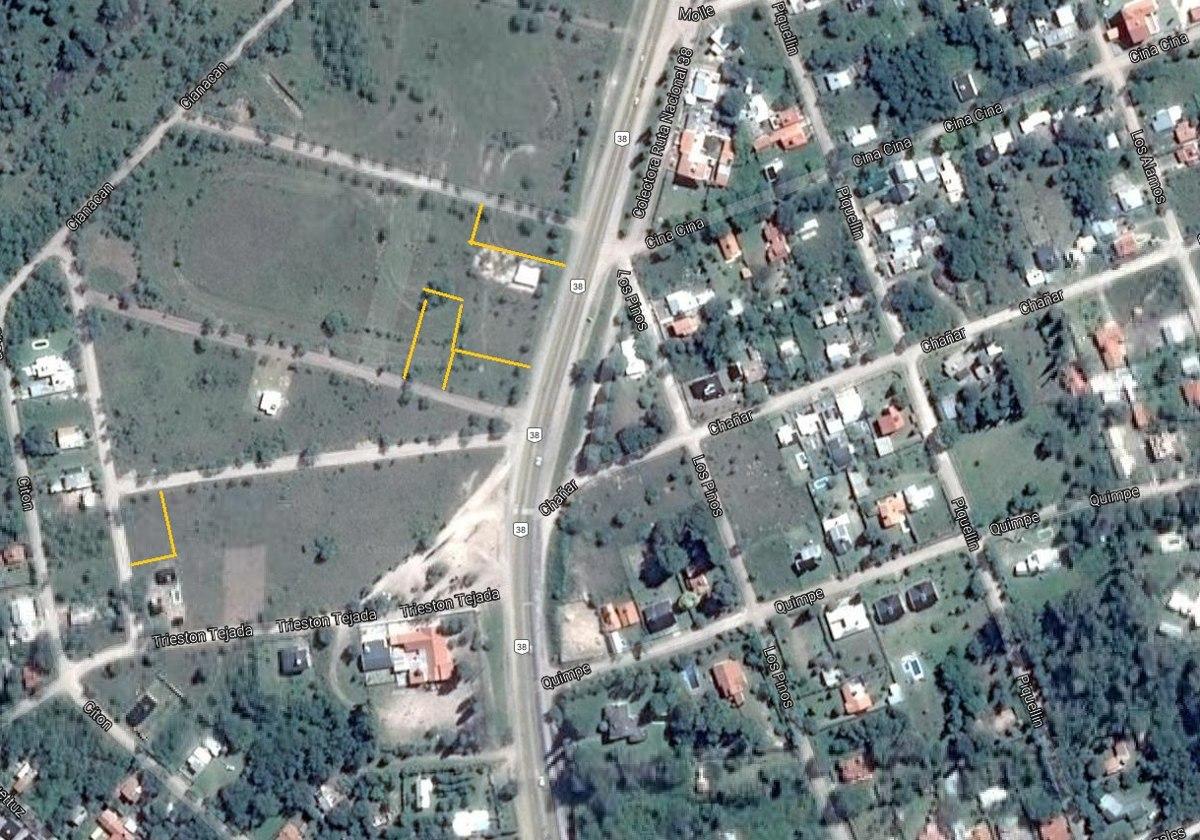 terreno 675 m2 a mts rn38 escritura. villa giardino córdoba.