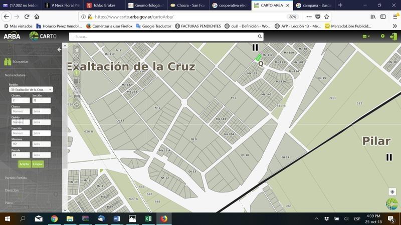 terreno  700 m2 barrio  los cardos - exaltacion de la cruz