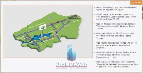 terreno 800m² venda riviera de sta cristina 1 sp - 04845-1